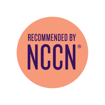 Recommended by the National Comprehensive Cancer Network.